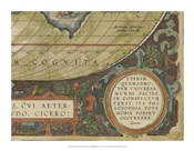Antique World Map Grid IX