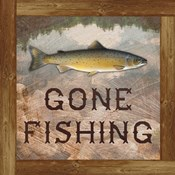 Gone Fishing Salmon Sign