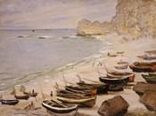 Boats on the Beach at Etretat, 1883