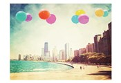 Chicago Balloons Over the City