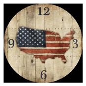 Wooden US Map Clock
