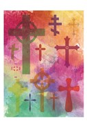 Watercolor Cross 1
