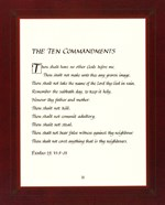 Ten Commandments - red frame