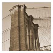 Sepia Brooklyn Bridge