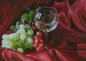 Red Satin and Grapes