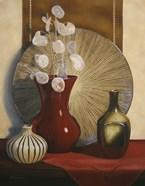 Still Life with Red Vase