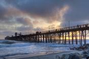 Sunset Through Oceanside Pier