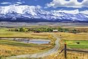 Montana Farm (Watercolor)