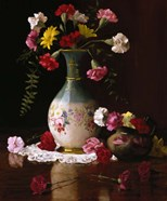 Carnations in a Victorian Vase
