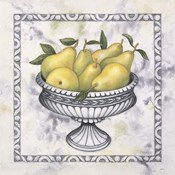 Pears In A Silver Bowl