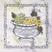 Green Grapes In A Silver Bowl