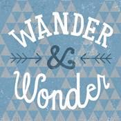 Mod Triangles Wander and Wonder Blue