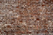 Brick Wall Splattered with White