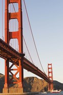 Golden Gate Bridge against a Blue Sky