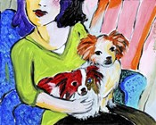Lady with Her Lap Dogs