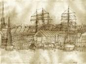 Boston Harbor c. 1877 Sepia Tone