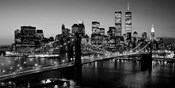 Brooklyn Bridge, NYC BW Pano