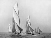 Saliboats Sailing Downwind, ca. 1900-1920