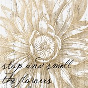 Metallic Floral Quote I
