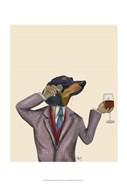 Dachshund Wine Snob