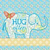 Blue Elephant I - Hug Often