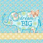 Blue Elephant I - Dream Big