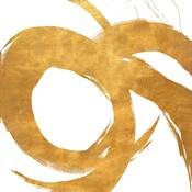 Gold Circular Strokes II
