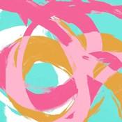 Pink Circular Strokes I