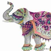 Boho Elephant Square
