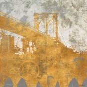 NY Gold Bridge at Dusk I