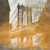 NY Gold Bridge at Dusk II