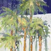 Wood Shadow Palms I