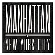 Manhattan Black White