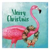 Christmas Flamingo Text