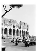 Colessium With Moped Rome