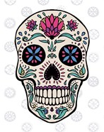 Sugar Skull II on Gray