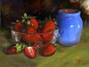 Strawberry Blue Vase