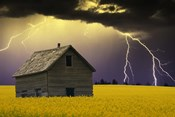 Old House with Lightning