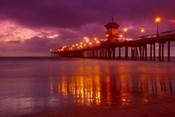 Pier with Purple Sky