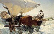 Returning from Fishing - Hauling of the Boat