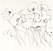 Black Line Poppies I