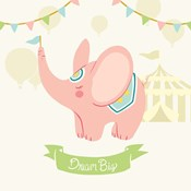 Little Circus Elephant Pastel