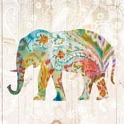 Boho Paisley Elephant II