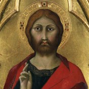 Christ Blessing - Detail
