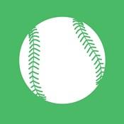 White Softball on Green
