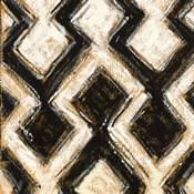 Black and Gold Geometric III Crop