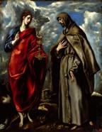 Saint John the Baptist and Saint Saints John and Francis of Assisi c. 1600