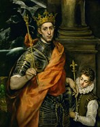 Saint Louis, King of France, and a Pageboy