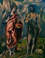 Saints John the Baptist (left) and John the Evanglist (right)