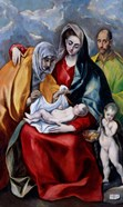 The Holy Family with Saint Anne, Saint Joseph and the child Saint John the Baptist